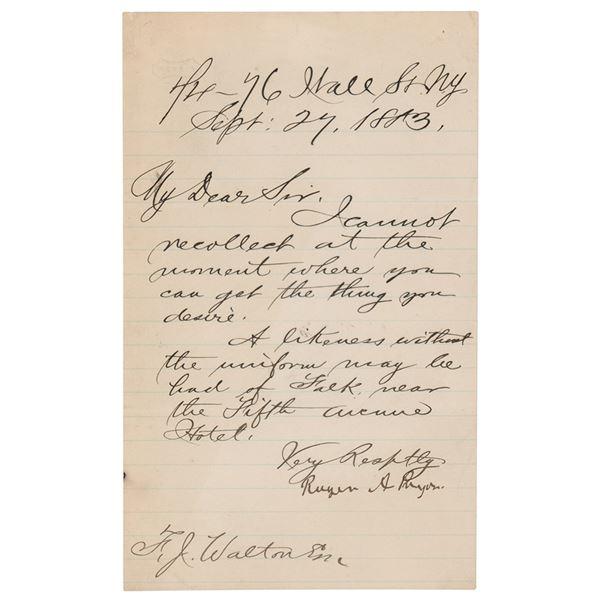Roger Pryor Letter Signed