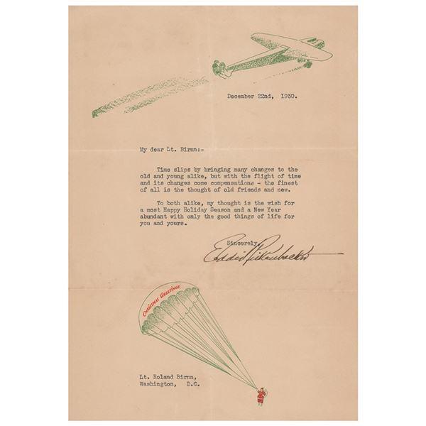 Eddie Rickenbacker Typed Letter Signed