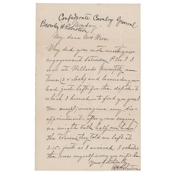 Beverly H. Robertson Autograph Letter Signed