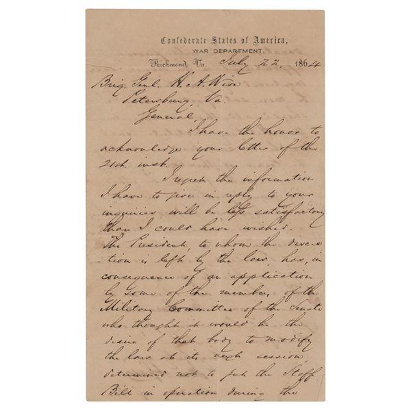 James A. Seddon Letter Signed