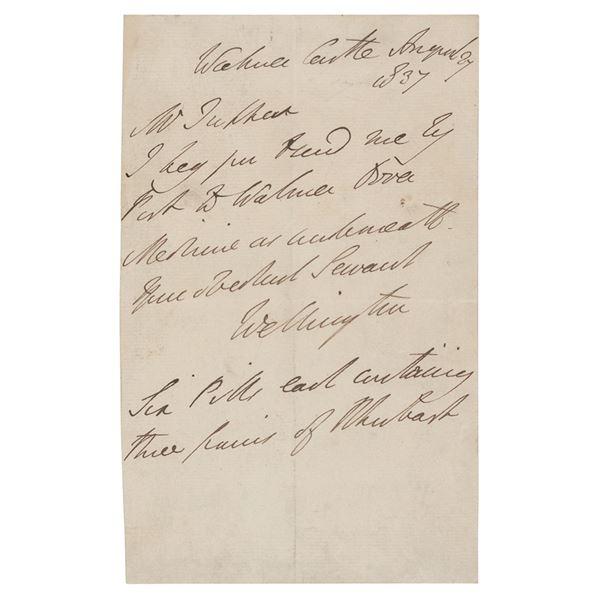 Duke of Wellington Autograph Letter Signed