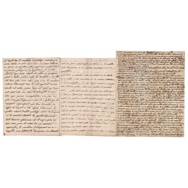 Joseph-Michel and Pierre Montgolfier Auotgraph Letters Signed