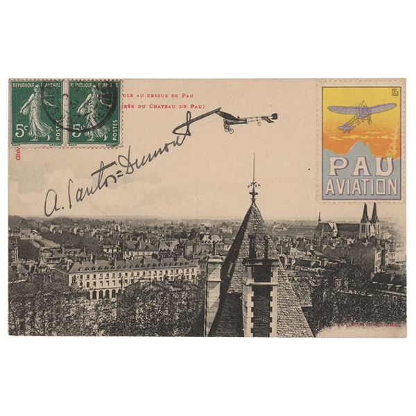Alberto Santos-Dumont Signed Postcard