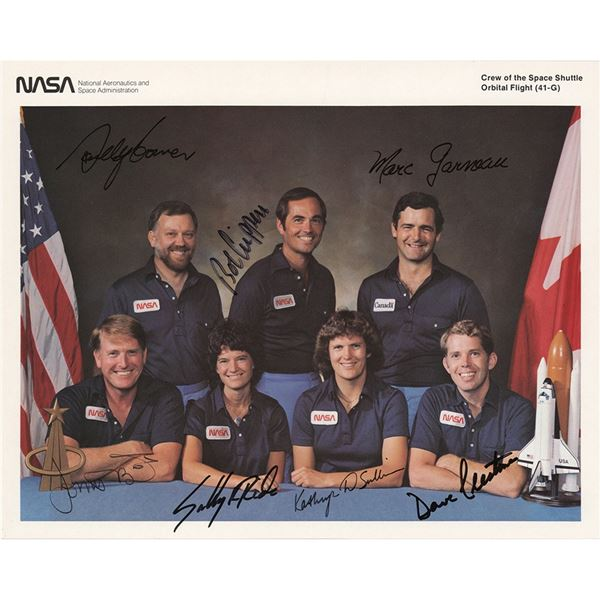 Sally Ride and STS-41-G Signed Photograph