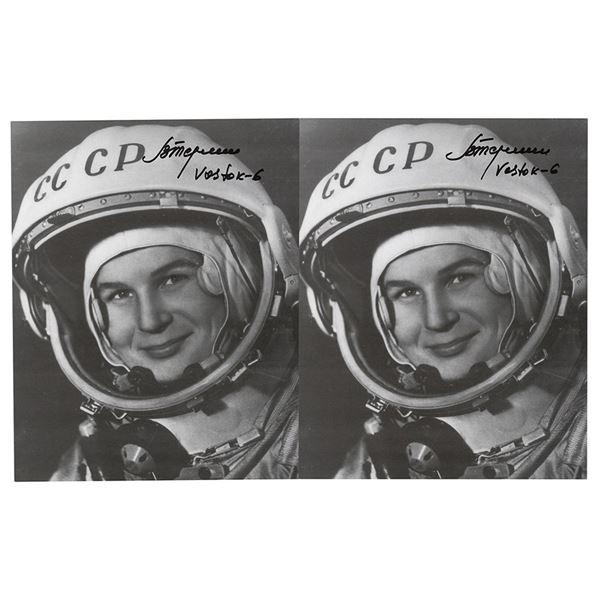 Valentina Tereshkova (2) Signed Photographs