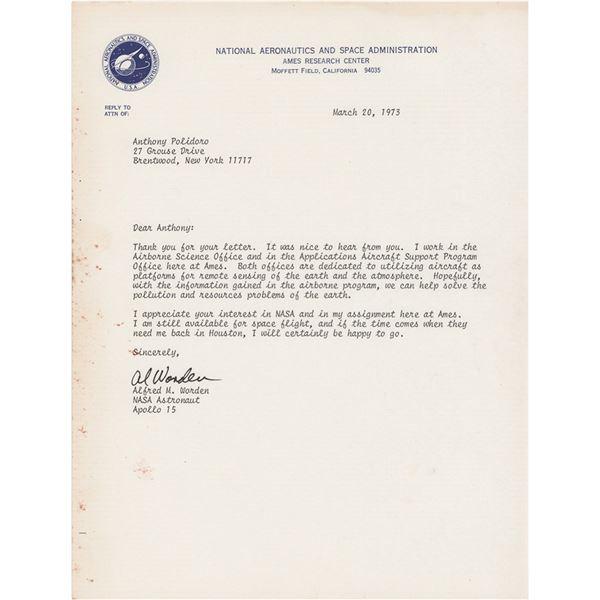 Al Worden Typed Letter Signed