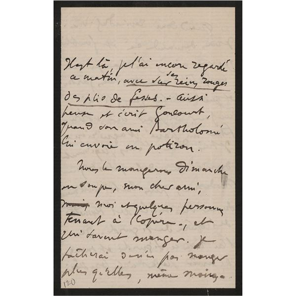 Edgar Degas Autograph Letter Signed