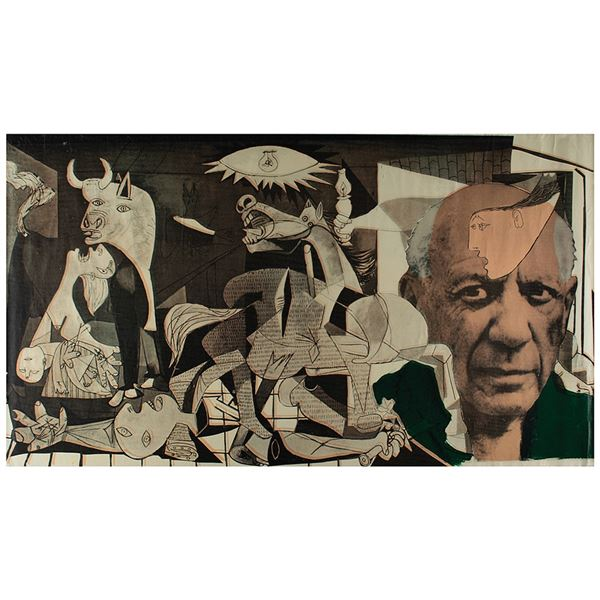 Pablo Picasso: Steve Kaufman Signed Silkscreen