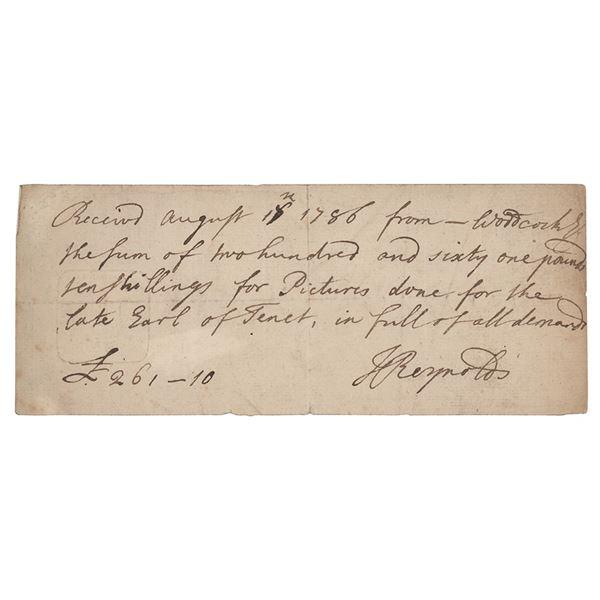 Joshua Reynolds Autograph Document Signed