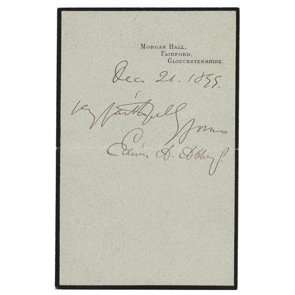 Edwin Austin Abbey Signature