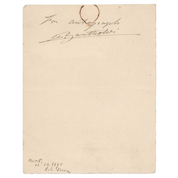 Frederic Auguste Bartholdi Signature