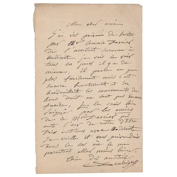 Charles-Francois Daubigny Autograph Letter Signed