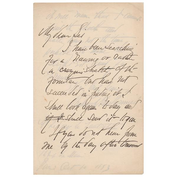 Frederick MacMonnies Autograph Letter Signed