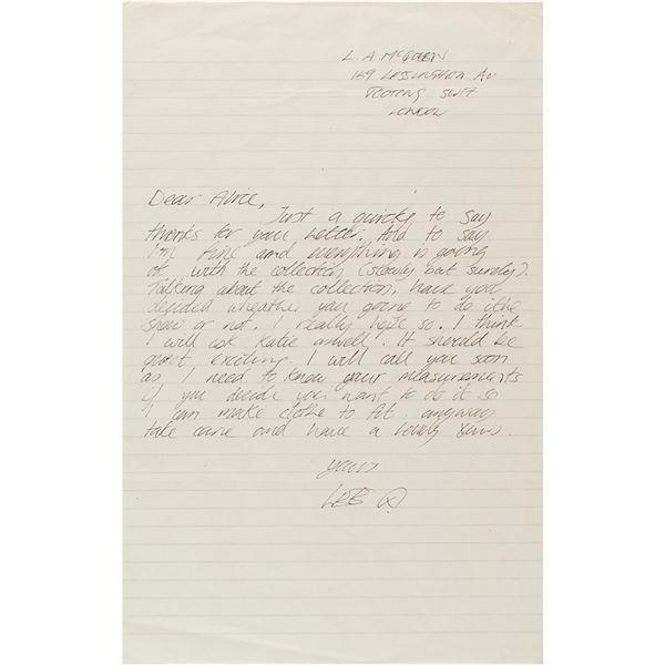 Alexander McQueen Autograph Letter Signed