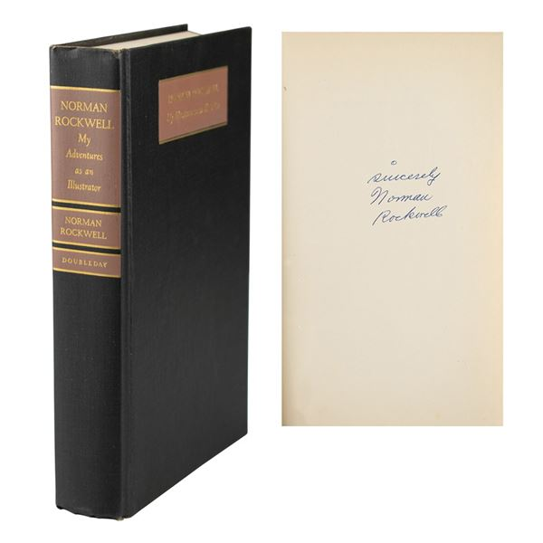 Norman Rockwell Signed Book