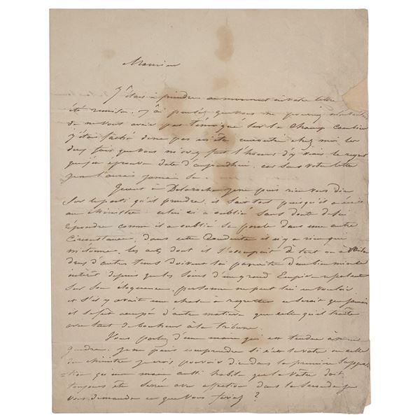 Horace Vernet Autograph Letter Signed