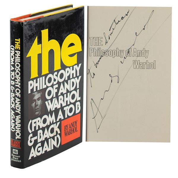 Andy Warhol Signed Book