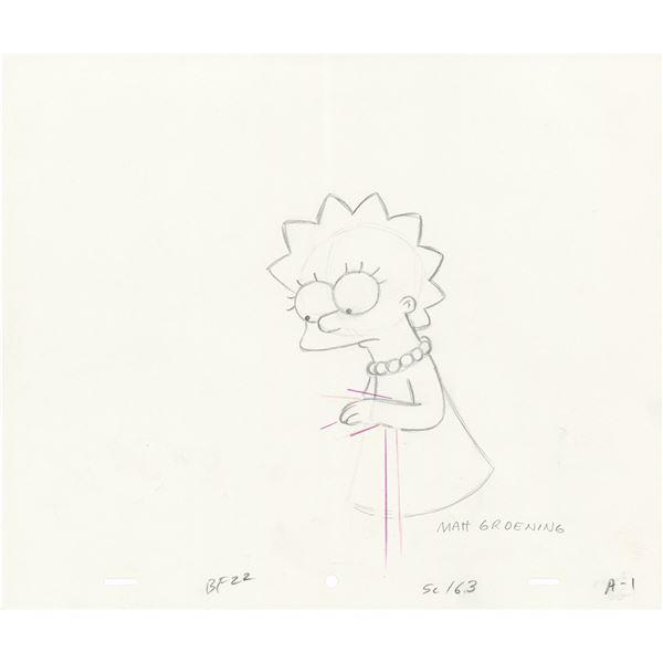 Matt Groening Signed Production Drawing