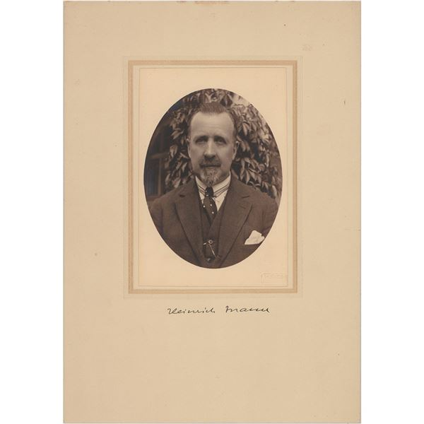 Heinrich Mann Signed Photograph