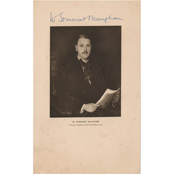 W. Somerset Maugham Signed Print