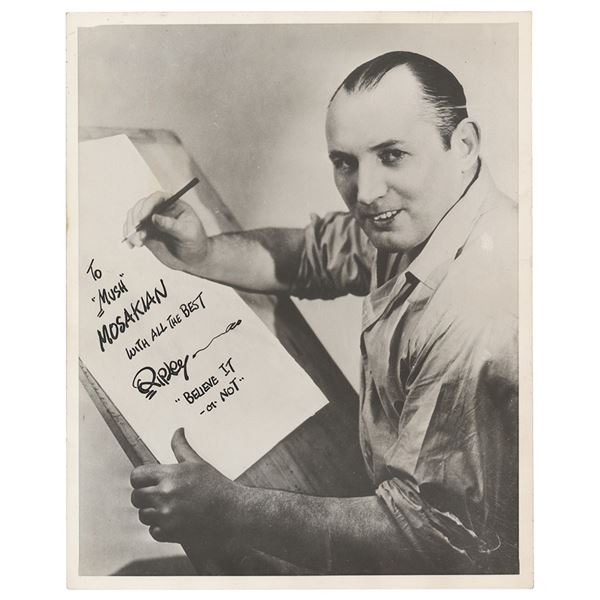 Robert Ripley Signed Photograph