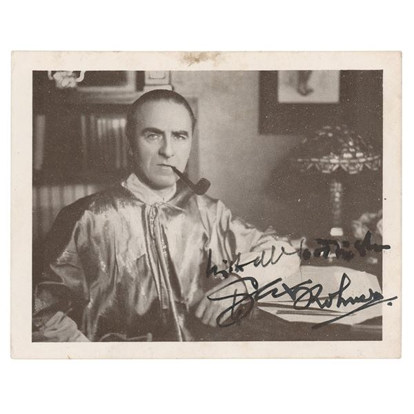 Sax Rohmer Signed Photograph