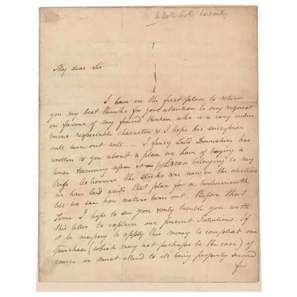 Sir Walter Scott Autograph Letter Signed