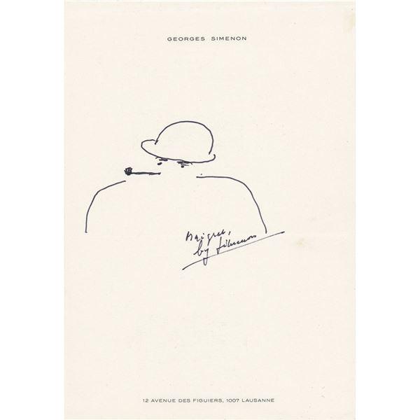 Georges Simenon Original Sketch