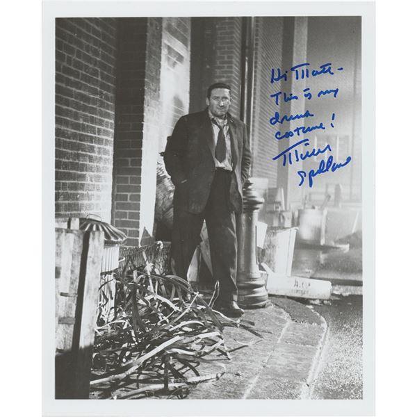 Mickey Spillane (2) Signed Photographs
