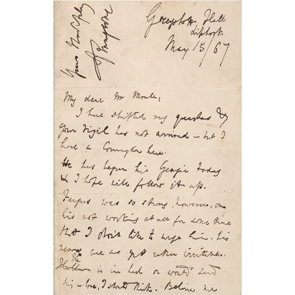 Alfred Lord Tennyson Autograph Letter Signed