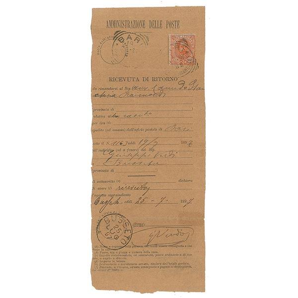 Giuseppe Verdi Document Signed