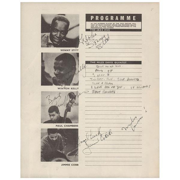 Miles Davis Quintet Signed Program