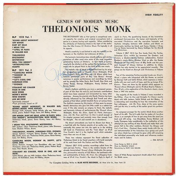Thelonius Monk Signed Album