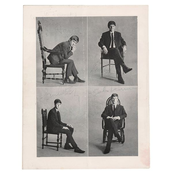Beatles Signed 1963 Program