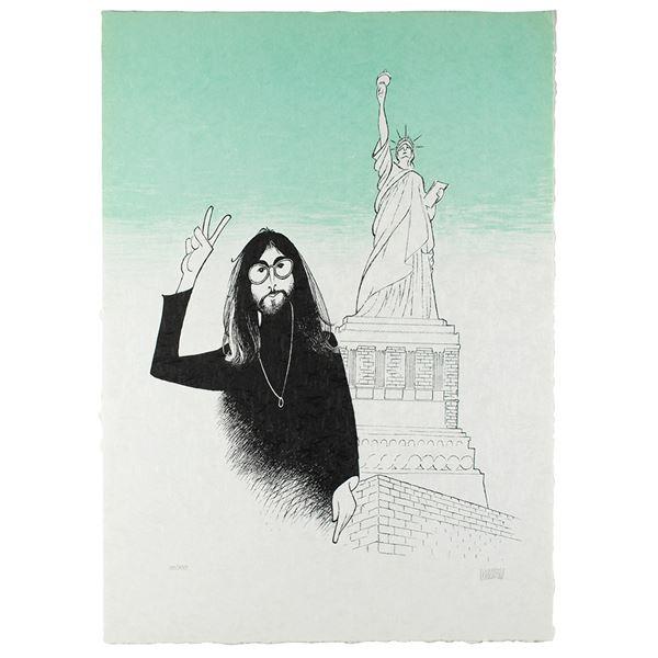 Beatles: Al Hirschfeld Signed Lithograph