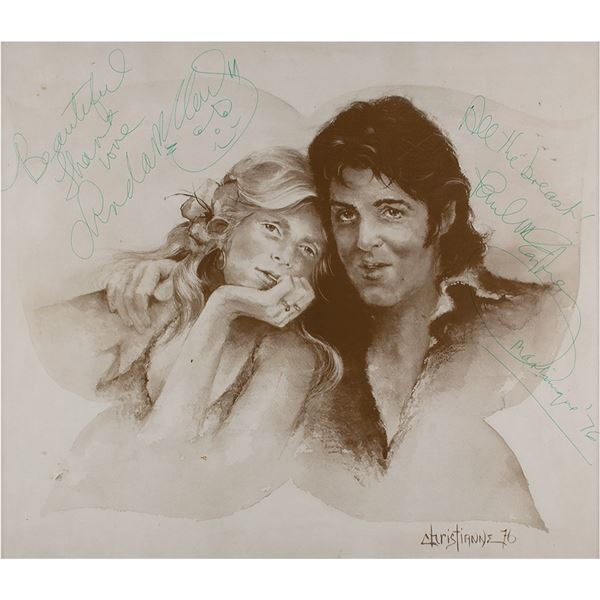 Beatles: Paul and Linda McCartney Signed Print