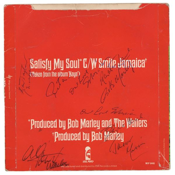 Bob Marley and The Wailers Signed 45 RPM Single