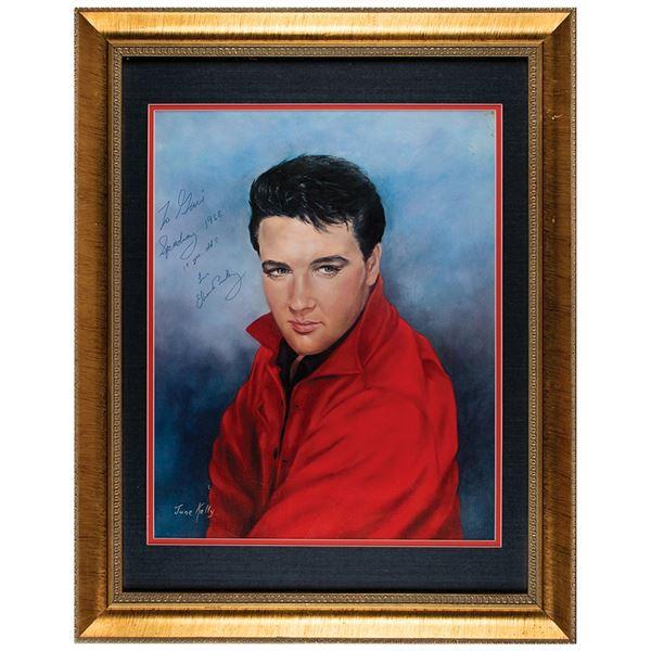 Elvis Presley Signed Oversized Print