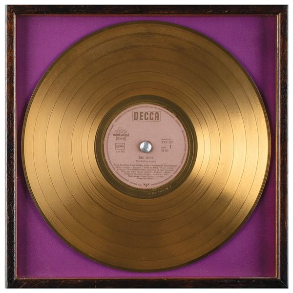 Rolling Stones Gold Record: 'Big Hits (High Tide and Green Grass)'