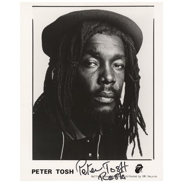 Peter Tosh Signed Photograph