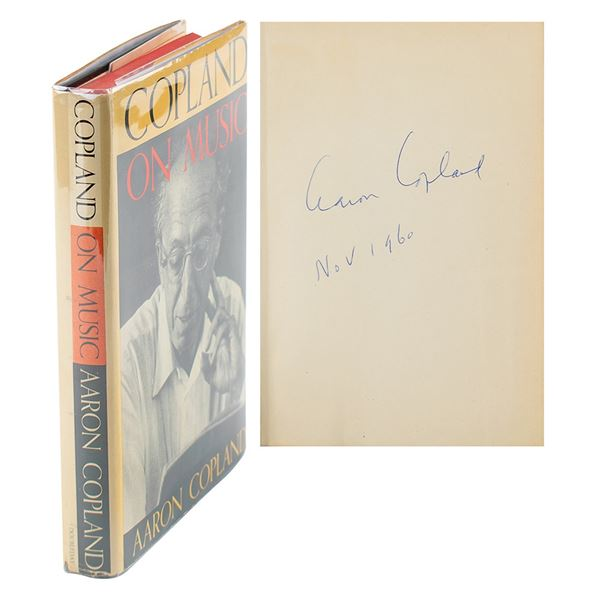 Aaron Copland Signed Book
