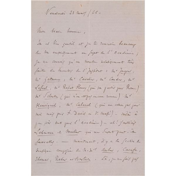 Charles Gounod Autograph Letter Signed
