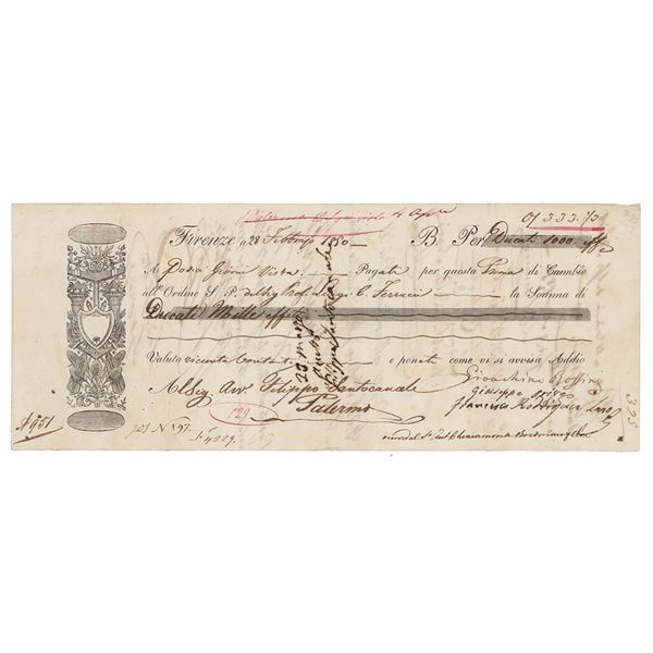 Gioachino Rossini Document Signed