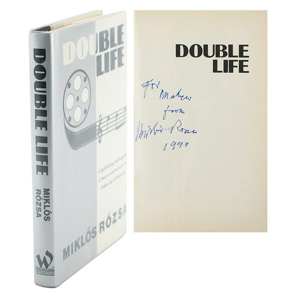 Miklos Rozsa Signed Book