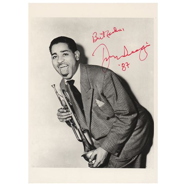 Dizzy Gillespie Signed Photograph