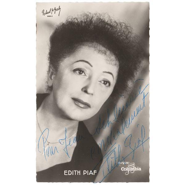 Edith Piaf Signed Photograph