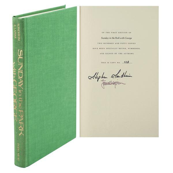 Stephen Sondheim Signed Book