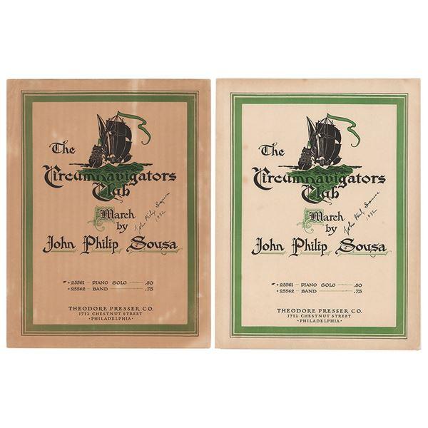 John Philip Sousa (2) Signed Sheet Music Booklets