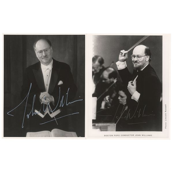 John Williams (2) Signed Photographs