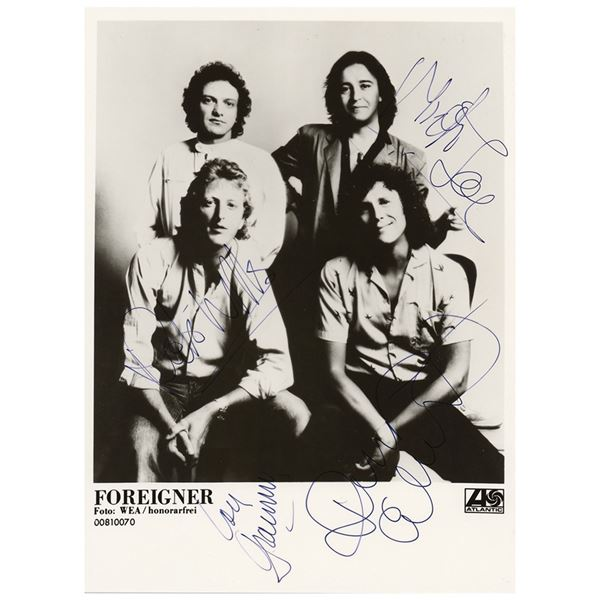 Foreigner Signed Photograph